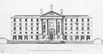 Giorgio Massari: Originalentwurf zu Kirche und Hospitz von Santa Maria della Visitazione, 1736